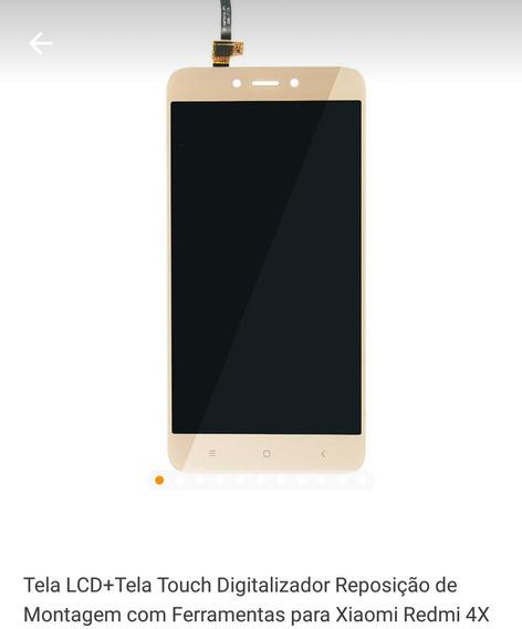 Tela Lcd + Tela Touch Digitalizador Repos. Xiaomi 4x Dourado