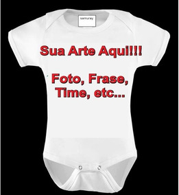 Body Baby Personalizado Zero A Nove Meses