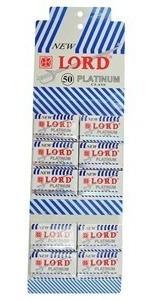 Lâmina Barbear Lord Platinum 20 Cartelas C 50, Cada R$ 10,70