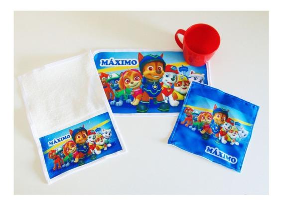 Kit Escolar: Individual C/ Servilleta+toalla+taza
