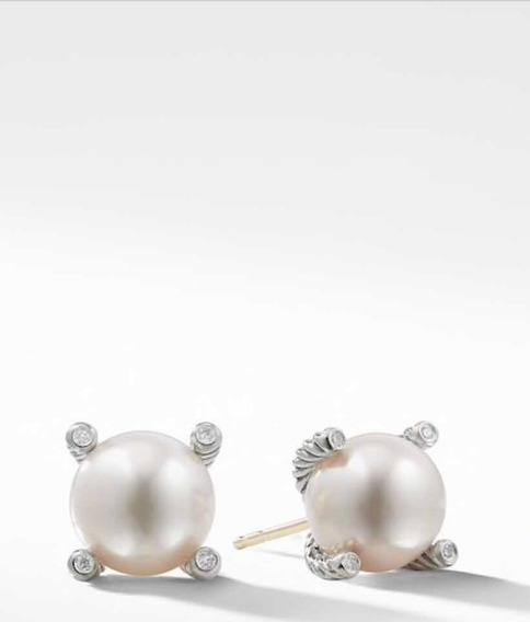 Aretes Perla Y Diamantes David Yurman Originales