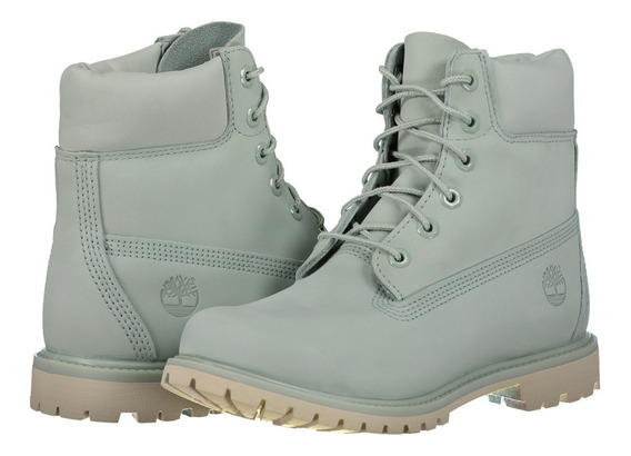 Bota Impermeable Piel Timberland A1bj9 Mujer Verde Claro