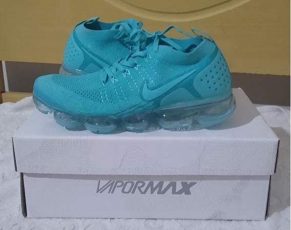 Tenis Nike Vapormax 2.0 Verde Agua Nº37 Original Na Caixa