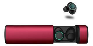 Auriculares De Bluetooth Manos Libres Base De Carga X9 Rojo