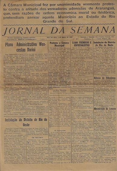 Jornal Da Semana Rio Do Sul Ano 1 Número 16 De 05/03/1949