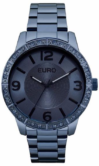Relogio Euro Feminino Eu2036ylr/4a Azul Analogico Oferta