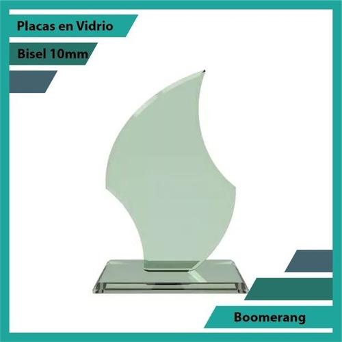 Placas En Vidrio Forma Boomerang