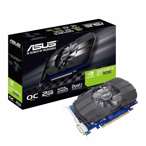 Video Asus Geforce Gt 1030 Phoenix Oc 2gb Ddr5 Dvi Hdmi 4k