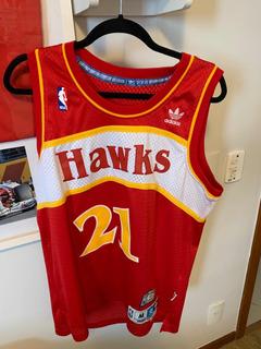 Camiseta Uniforme Nba adidas Hwc Atlanta Hawks Wilkins M
