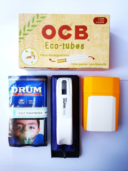 Kit Para Armar Cigarrillos Tabaco Máquina Tubos Ocb Raw Lion
