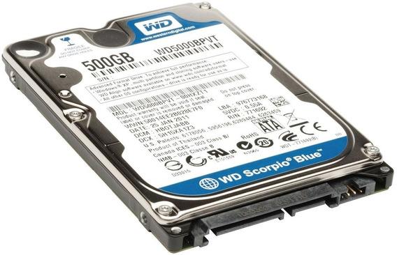 Disco Rigido Notebook 500gb 2.5 Sata Ps3 Pc Xbox Wd Toshiba