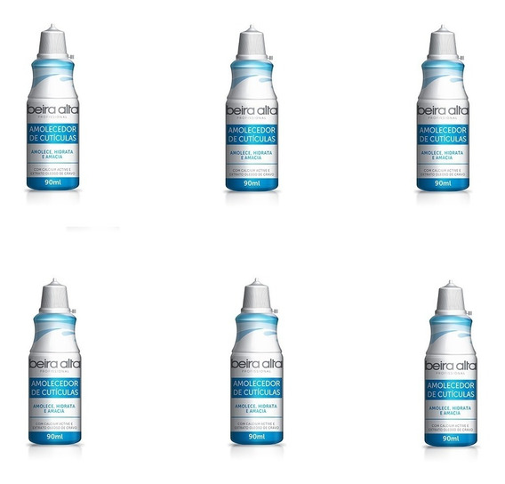 Amolecedor De Cutículas Bico 240 Ml (kit 06 Unidades)