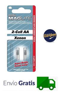 Repuesto Foco Lampara Maglite 2 Cell Aa/aaa Xenón