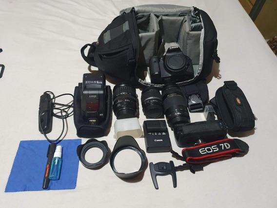 Câmera Canon 7d + Acessórios