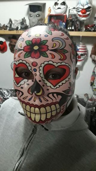 Mascara Catrina Mexicana Halloween Terror Obras Decoración