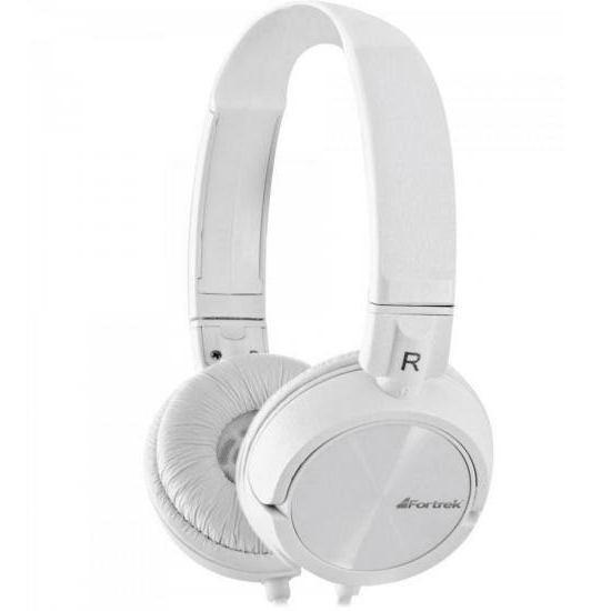 Fone De Ouvido Headphone Branco Fortrek Hpf501