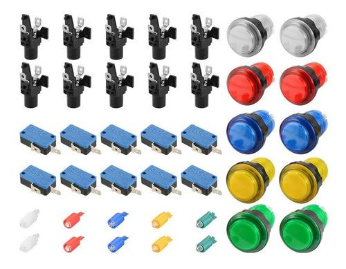Pulsadores Arcade Con Micro Y Led
