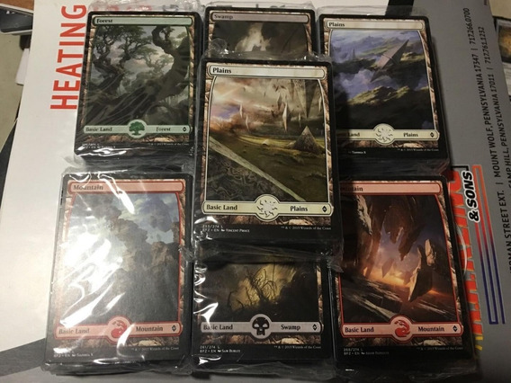 80 Terrenos Full Art De Bfz - Pack Lacrado
