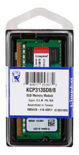 Imagem 1 de 1 de Memória Notebook Kingston 8gb Ddr3 1333mhz Proprietária