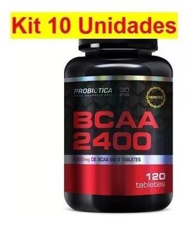 Kit 10 Bcaa 2400 120 Tabs Cada - Preço De Fábrica