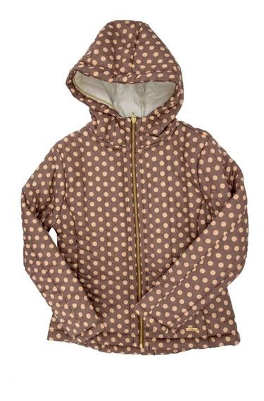 Chamarra/abrigo Boleada Con Gorro Para Niña En Oferta 02001