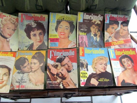 Lote 10 Revista Filmelandia Marilyn Monroe Liz Taylor