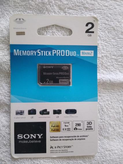 Cartão De Memória Sony Stick Pro Duo Mark2 2gb Ms-mt2g/tq2