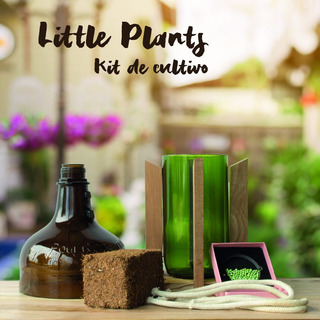 Kit Little Plant 27 Con Soporte, Maceta Autorregante