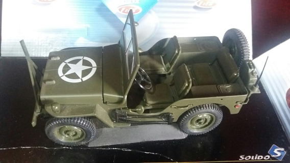 Jeep Willys Us Army 1942- Die Cast-metal