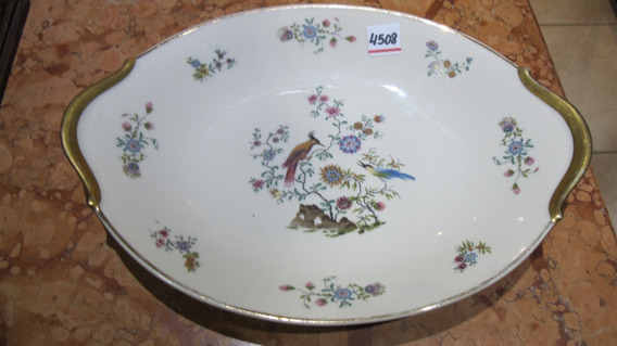 Antigua Fuente Oval Mediana De Porcelana Francesa Limoges