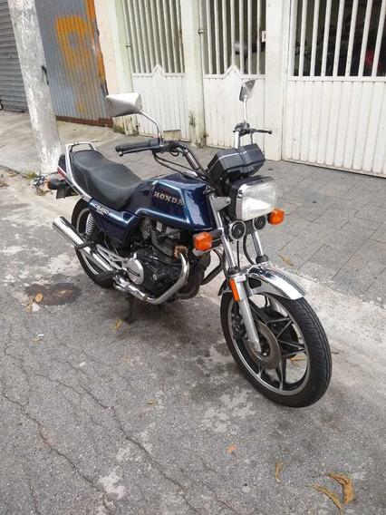 Cb 450 Custom Segundo Placa Preta Toda Original Ano 83