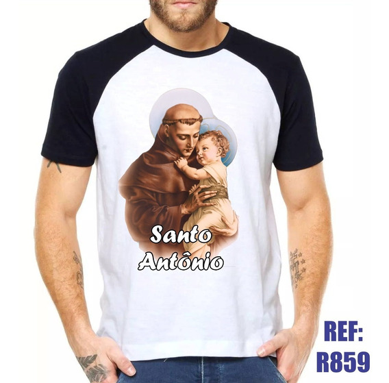Camisa Raglan Santo Antônio Religiosa Igreja Católica