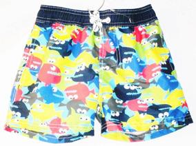 Traje De Baño Niño Swimming Short Pirañas Ajustable Boxer