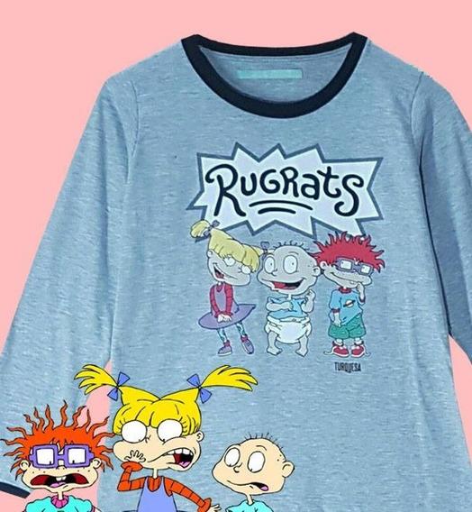 Remera Pijama Rugrats Carlitos Dibujitos 90s Geek Cartoon