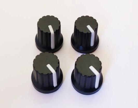 4 Unidades Knob Potenciômetro Botão Volume Branco Estriado