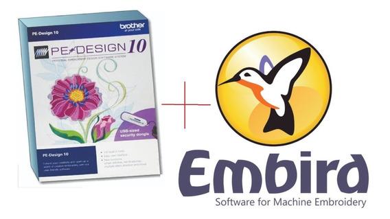 Software De Criação De Bordados Embird + Pe Design 10 Completo