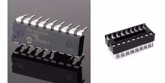 Microcontrolador Pic 16f628a I/p + Soquete (10 Peças = 5kit)