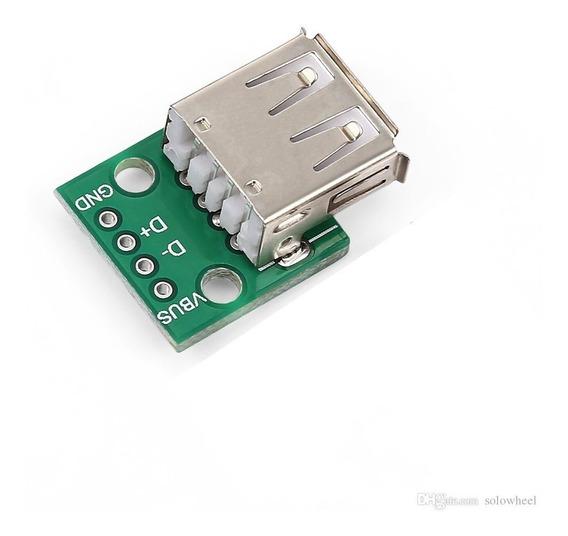 Módulo Adaptador Conector Usb Femea 2.0 Para Dip Arduino