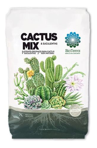 Cactus Mix Bioterra Sustrato Para Cactus Y Suculentas 7lts