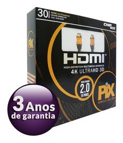 Cabo Hdmi 30 Metros 2.0 4k Ultra Hd 3d 19 Pinos 018-3020