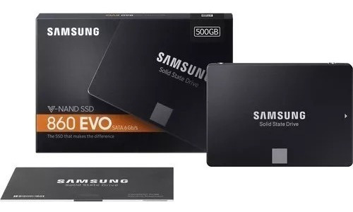 Ssd Samsung 860 Evo 500gb Sata3 6gbs 550mbs Lacrado Garantia