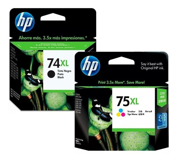 Cartucho Hp 74xl E 75xl Kit Original Na Caixa Lacrado!!