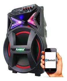 Caixa Multiuso Amplificada Radio Fm Mp3 Usb Sd Amvox