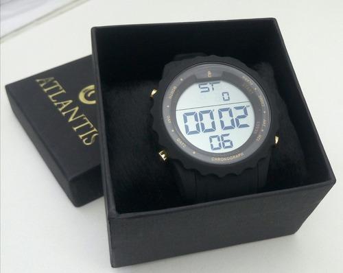 Relógio Masculino Digital Atlantis Mod.a-7457 Silicone.