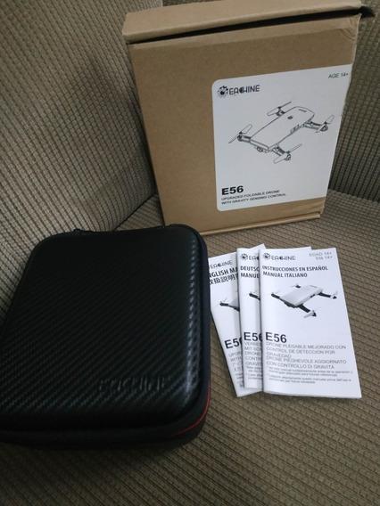 Drone Eachine E56 Câmera Hd 720p + Case - G Sensor Novo
