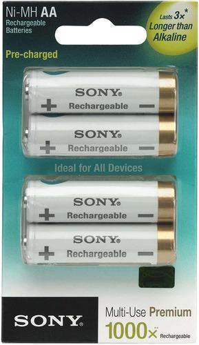 Pack Com 4 Pilhas Sony Tipo Aa 2000mah