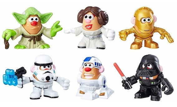 Star Wars, Juego De 6 Personajes Señor Cara De Papa