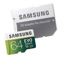 Samsung Microsd Card 64gb Evo Select U3 4k 100 Mb/s Original