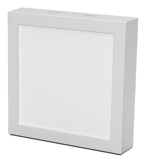 Plafon Led Ledvance Embutir / Aplicar Cuadrado 15w Calido