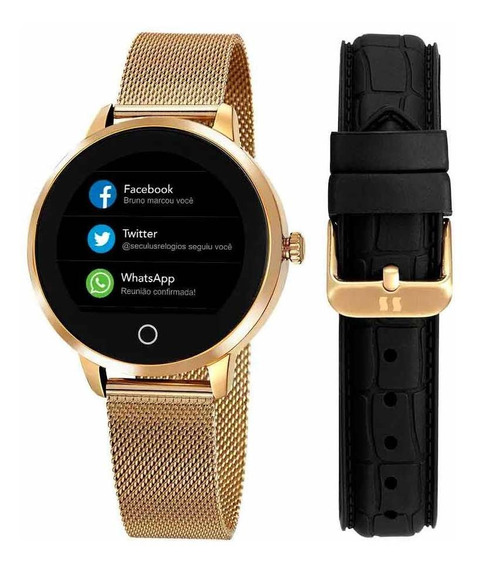 Relógio Feminino Seculus Smart Dourado 79003lpsvda2